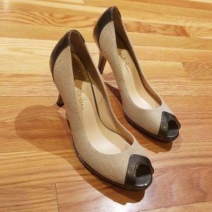 Cole Haan Peep-Toe Heels, sz 9.5
